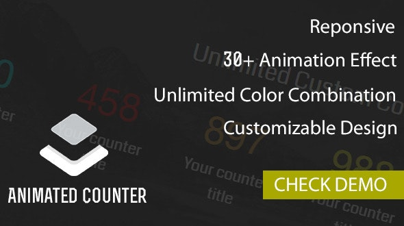 Animated Counter Plugin - CodeCanyon Item for Sale