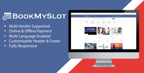 BookMySlot - Multi Vendor Service Appointment & Event Booking PHP Software