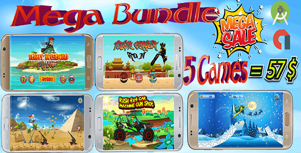 Summer Discount- Mega Bundle 5 games (Android Studio)