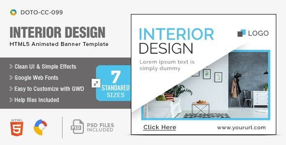 Interior Design HTML5 Banners - 7 Sizes