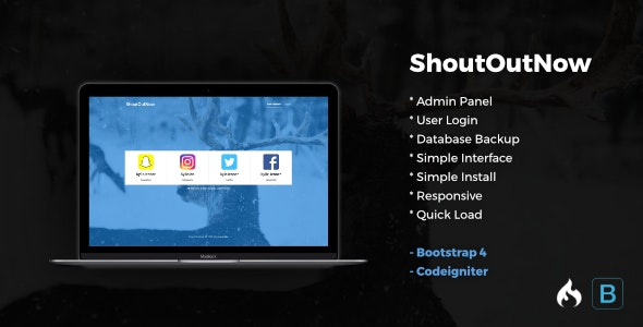 ShoutOutNow - Codeigniter - CodeCanyon Item for Sale