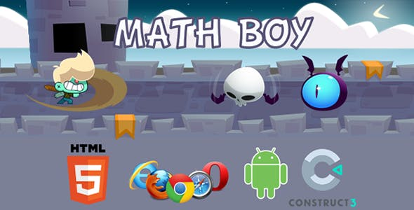 Math Boy - HTML5  Educational Game