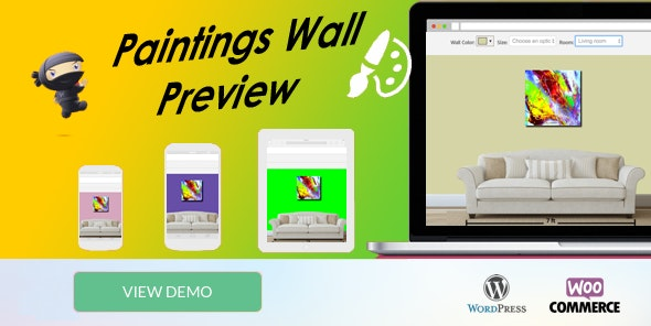 WooCommerce Paintings Wall Preview - Popup - - CodeCanyon Item for Sale