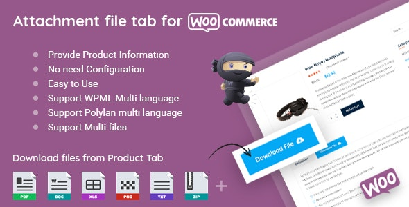 WooCommerce Product Files Tab v2.0 - CodeCanyon Item for Sale
