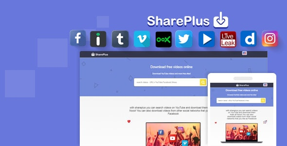 Shareplus Video Downloader from youtube, facebook,instagram