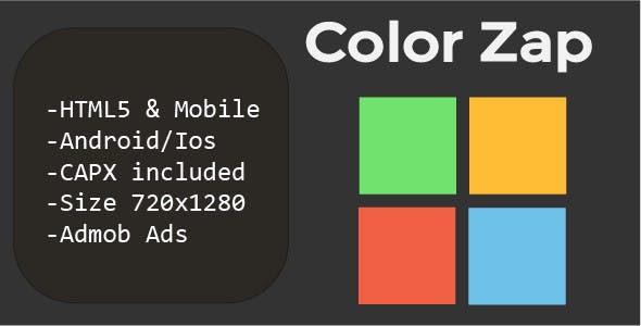 Color Zap (HTML5 + Mobile Version) Construct 2