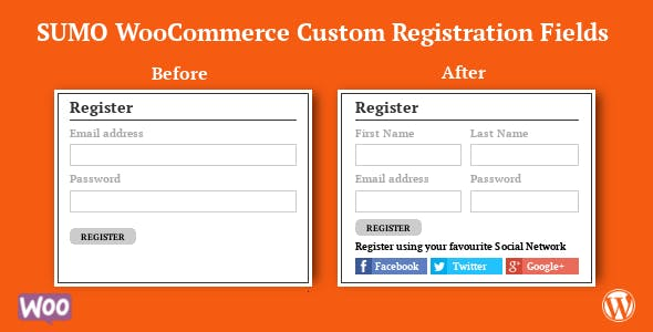 SUMO WooCommerce Custom Registration Fields
