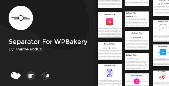 Separator For WPBakery Page Builder (Visual Composer)