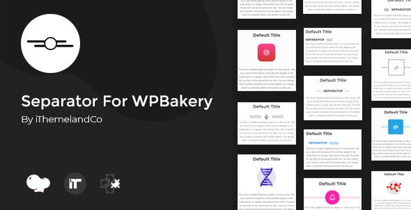 Separator For WPBakery Page Builder (Visual Composer) - CodeCanyon Item for Sale