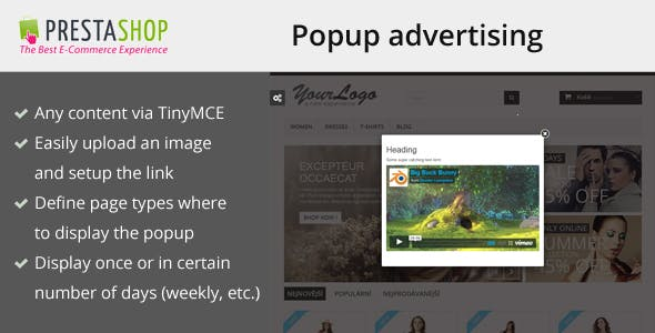 Popup advertising for Prestashop