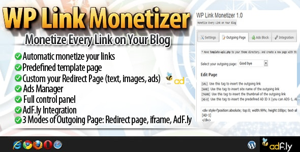 WPLM - Wordpress Link Monetizer - CodeCanyon Item for Sale