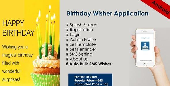 Birthday auto SMS Wisher