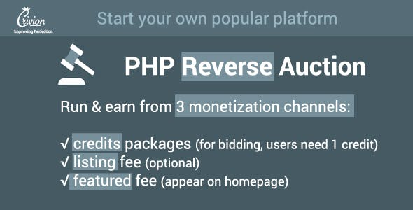 PHP Reverse Auctions Script