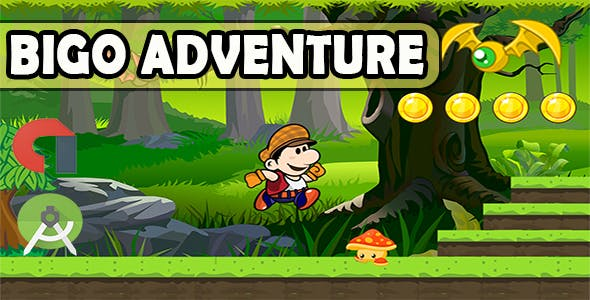 Bigo Adventure Android Game Template Android Studio Project Admob Ads