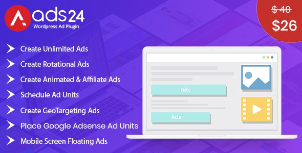 Ads24 - Ultimate Wordpress Advertising Plugin - CodeCanyon Item for Sale