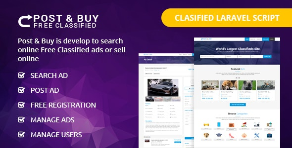 Post and Buy - Classified Ads Listings - CodeCanyon Item for Sale