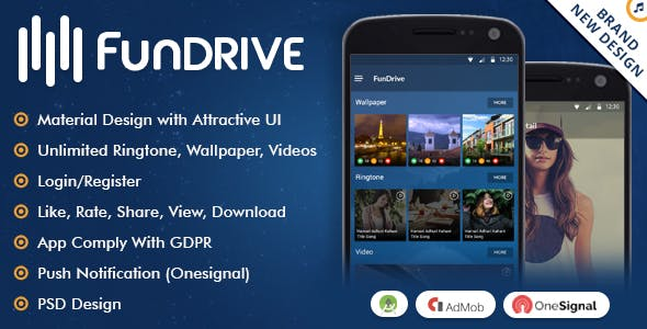 Fundrive - Ringtones, Videos & Wallpapers Download App