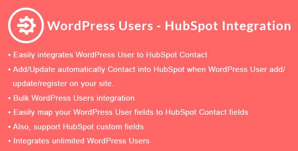 WordPress Users - HubSpot Integration
