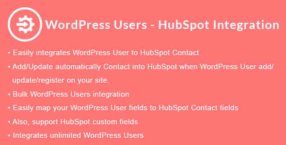 WordPress Users - HubSpot Integration - CodeCanyon Item for Sale