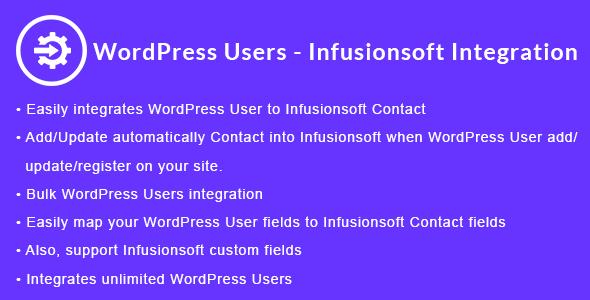 WordPress Users - Infusionsoft Integration | WordPress Users - Keap CRM Integration - CodeCanyon Item for Sale