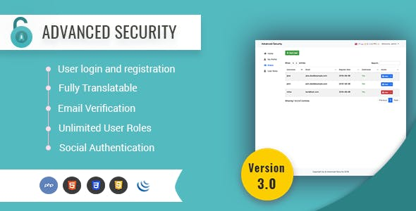 Advanced Security - PHP Register/Login System        Nulled
