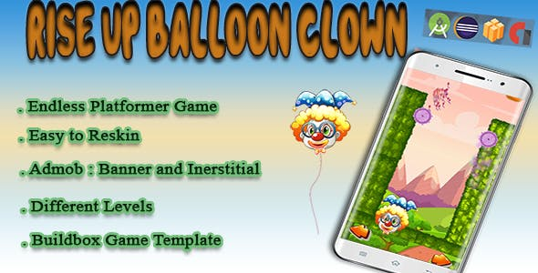 RiseUp Balloon - Android Studio + Eclipse + Buildbox Template with Admob - CodeCanyon Item for Sale