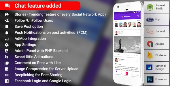 Social Media Android App with Admin | PHP Backend | WeShare - CodeCanyon Item for Sale