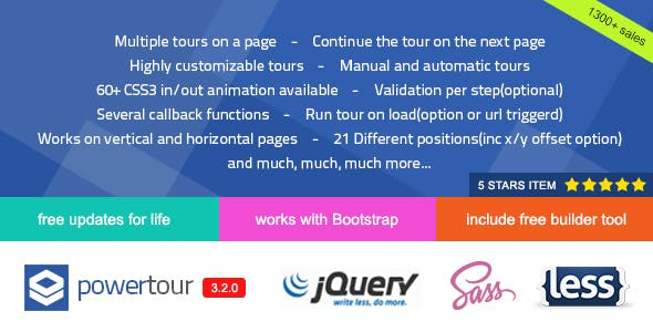Power Tour - Powerful Creative jQuery Tour Plugin