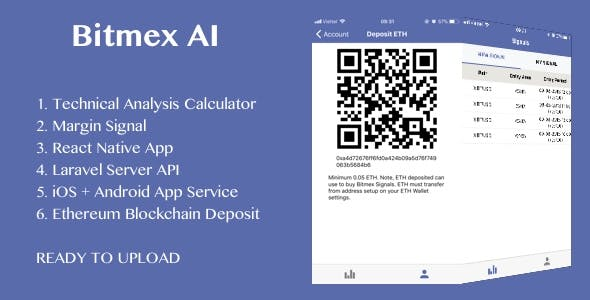 BitMEX Margin Signal AI with React Native android and ios application - CodeCanyon Item for Sale