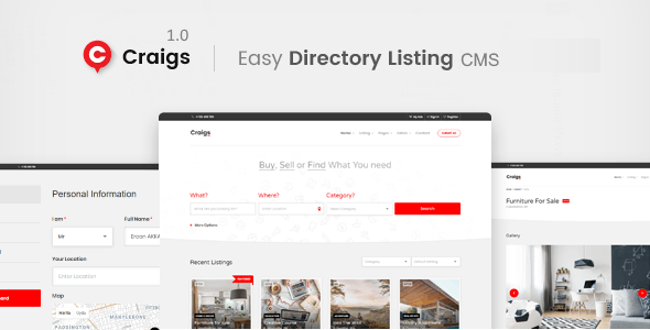 Craigs - Classified Ads CMS Theme - CodeCanyon Item for Sale