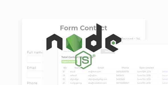 Encontact - Contact Form with ExpressJs & Mysql