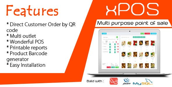 xPOS - Multi purpose Point of Sale in PHP
