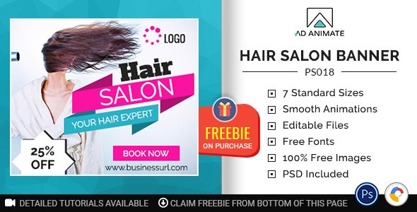 Professional Services Hair Salon Banner Ps018 By Adanimatehelp
