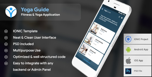 Yoga Android app + Yoga iOS app |  Template (HTML + CSS in IONIC Framework) - CodeCanyon Item for Sale