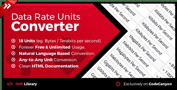 Data Rate Units Converter - Natural Language Conversion Library