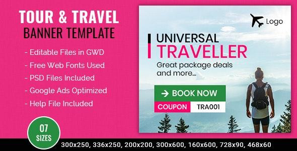 Tour & Travel | Universal Traveler Banner - 7 Sizes - CodeCanyon Item for Sale