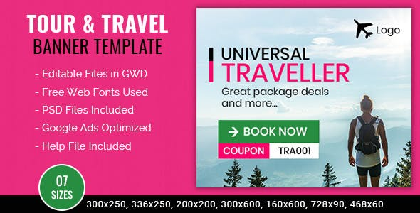 Tour & Travel | Universal Traveler Banner - 7 Sizes