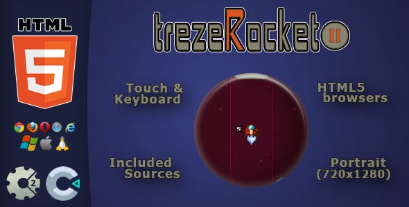 trezeRocket2 - HTML5 Skill Game