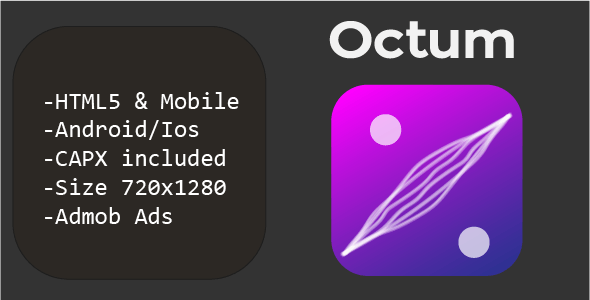 Octum (HTML5 + Mobile Version) Construct 2/3