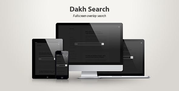 Dakh Search — Fullscreen Overlay Search