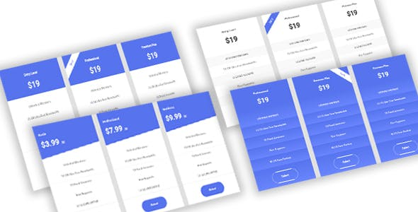 Priczx - Modern Bootstrap 4 Pricing Table