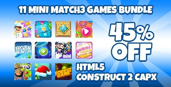 11 Match3 Games Bundle + Capx