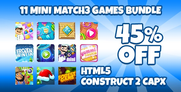 11 Match3 Games Bundle + Capx - CodeCanyon Item for Sale