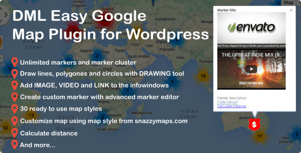 DML Easy Google Map Plugin for Wordpress - CodeCanyon Item for Sale
