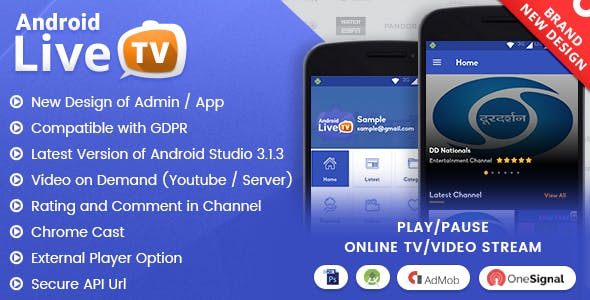 Android Live TV with Material Design        Nulled