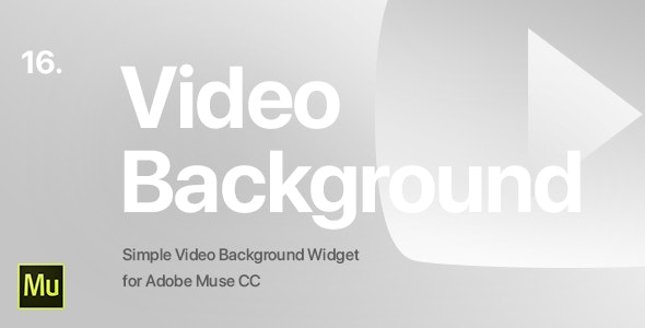 16 | Video Background Widget for Adobe Muse CC - CodeCanyon Item for Sale