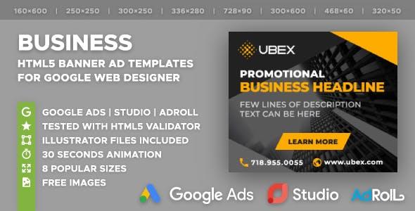 UBEX - Multipurpose Business HTML5 Banners (GWD)