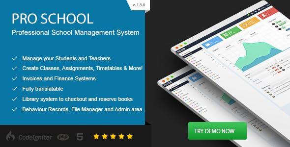 Pro School - PHP School Management System