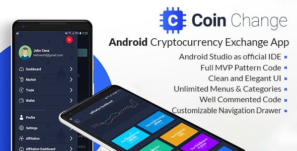 Coin change - Android Cryptocurrency Exchange Template