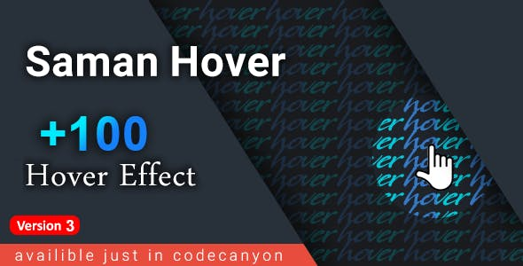 Saman Hover - +100 link hover effects